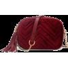 sheinside Chevron Stitch Velvet bag - Messenger bags -