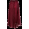 sheinside Red Chiffon skirt - Faldas -