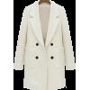 sheinside white dress - Giacce e capotti -
