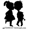 shilloutet cupple - Illustrations -
