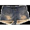 Shorts Blue - 短裤 -