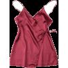 short wrap slip dress - Haljine -