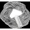 silver box chain eight row bracelet - Braccioletti -
