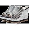 silver sandals1 - Sandalias -