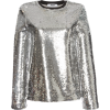 silver sequin top - Long sleeves shirts -