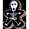 skeleton gingerbread man - Food -