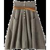 Skirts Gray - Suknje -