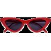 slim streamlined cat eye red sunglasses - Occhiali da sole -