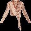 snake print - Camisa - longa -