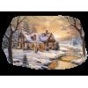 snowy log cabin - Buildings -