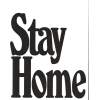 stay home words lettering - Uncategorized -
