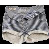 striped denim shorts - Shorts -