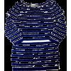 striped top - Camisa - longa -