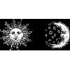 sun and moon - Illustrations -
