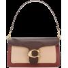tan burgundy coach purse - Hand bag -