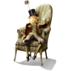 Goat in the chair - イラスト -