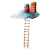 Houses In The Cloud - イラスト -