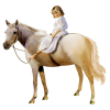 GIrl on the horse - People -