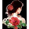 rose woman head - Personas -