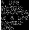 a life without - Testi -