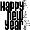 New year 2011 - イラスト用文字 -