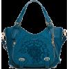 teal bag - Messenger bags -