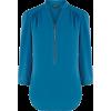 teal blouse - Long sleeves shirts -