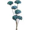 teal flower - Plantas -