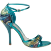 teal shoes - Sandals -