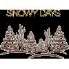 text snow winter - Textos -