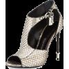 tom ford silver heels - Zapatos clásicos -