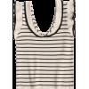 Ruffled Striped Knit Tank Top - Camisas sin mangas - $16.99  ~ 14.59€