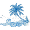tropical summer blue vector - Illustrations -