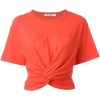 twist front tee - T-shirts -