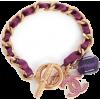 vintage cc purple ribbon bracelet  - Bransoletka -