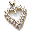 #vintage #diamond #heart #pendant #gold - Other jewelry - $199.50
