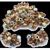 #vintage #jewelry #earrings #brooch #set - Other jewelry - $89.50