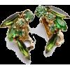 #vintage #jewelry #earrings #rhinestone - Earrings - $29.00