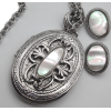 #vintage #locket #earrings #Jewelry - Necklaces - $39.50