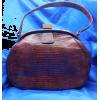 #vintage #purse #lizard #reptile #bag - Hand bag - $199.00