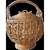 vintage rattan woven lantern - Uncategorized -