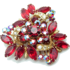 #vintage #rhinestone #brooch #jewelry - Other jewelry - $79.50  ~ 68.28€