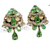 #vintage #rhinestone #earrings #jewelry - Aretes - $49.00  ~ 42.09€
