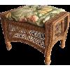 vintage wicker ottoman - Uncategorized -