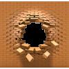 A 3D Brick wall w/hole  - Illustrations -