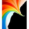 Amazinig Rainbow Swirl  - Illustrations -