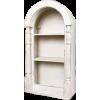 Arched White Bookshelf - Furniture -