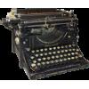 Black Antique Typewriter - Illustrations -