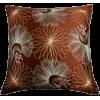 Burnt Siena Satin Pillow - Illustrations -