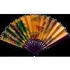 Gold Japanese Fan - Ilustracije -